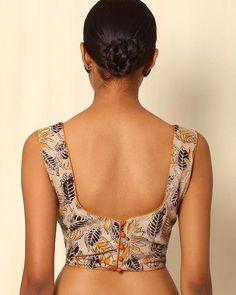 Buy Beige Indie Picks Kalamkari Print Cotton Sleeveless Blouse