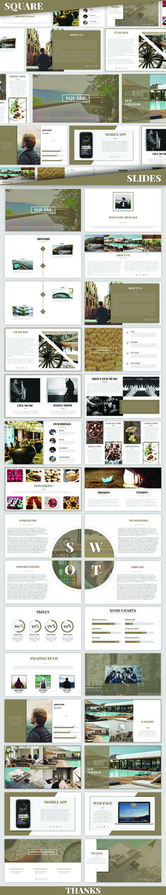 SQUARE - Powerpoint Presentation - PowerPoint Templates Presentation Templates