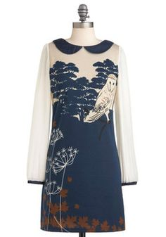 Owl Be Loving You Dress, #ModCloth     LOVE, LOVE YUMI clothes!!!