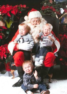The traditional Santa photo isn't always a happy time for little girls and boys.