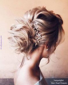 Tonyastylist Wedding Updos for Long Hair headband hairstyles wedding Tonyastylist Wedding Updo Hairstyles for Bride Bride Hairstyles For Long Hair, Unique Wedding Hairstyles, Holiday Hairstyles, Headband Hairstyles, Down Hairstyles, Hairstyle Ideas, Bridal Hairstyles, Elegant Wedding Hair, Wedding Hair Down