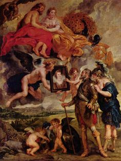 """""""The Presentation of Her Portrait to Henry IV"""" - Peter Paul Rubens"""