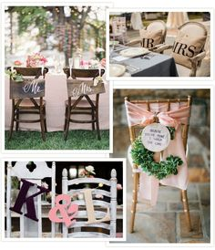 Treats for your Seats - Wedding Chair Decor   OneFabDay.com Ireland