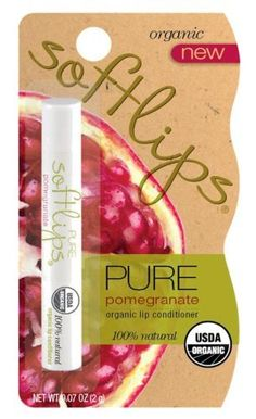 Softlips Organic Lip Balm, Pure Pomegranate, 0.07-Ounce Package (Pack of 6) by Softlips, http://www.amazon.com/gp/product/B001G7RBT4/ref=cm_sw_r_pi_alp_Vja-pb0HQ10DT