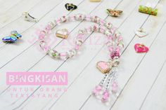 New Product!!! Tasbih glass bead pink rose. Cocok untuk kado orang tersayang.