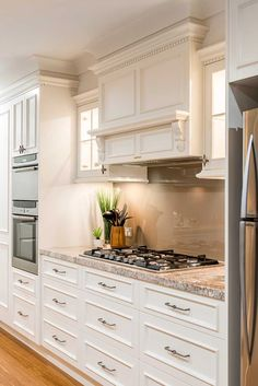 This French Provincial-inspired kitchen is a must see