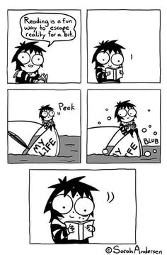 "Sarah Andersen has created a magnificent webcomic series with ""Sarah Scribbles. Sarah Anderson Comics, Sara Anderson, Cute Comics, Funny Comics, 9gag Funny, Funny Memes, Hilarious, Funny Gifs, Bts Memes"