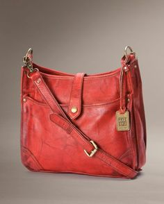 Maple and West Frye Campus Crossbody - Burnt Red