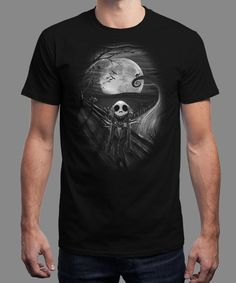 """The Scream Before Christmas"" is today's £8/€10/$12 tee for 24 hours only on www.Qwertee.com Pin this for a chance to win a FREE TEE this weekend. Follow us on pinterest.com/qwertee for a second! Thanks:)"