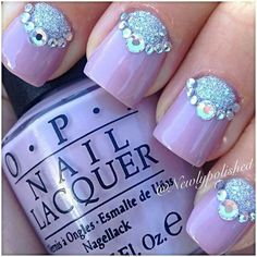 Cute nail design could use for wedding nails.