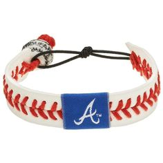 GameWear Atlanta Braves Leather Baseball Bracelet, Adult Unisex, Size:... ($21) ❤ liked on Polyvore featuring jewelry, bracelets, white red, red bead jewelry, red bangles, white jewelry, bead jewellery and beaded jewelry