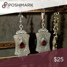 Silver and garnet earrings Silver and garnet earrings Jewelry Earrings