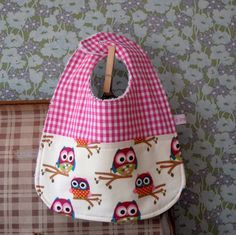 Baby Girls Cute Owl Bib