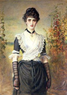 the-vintage-dress: Il Penseroso - John Everett Millais (1887)