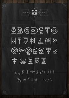 RUNUR font by Yan Kittsel, via Behance . Typography Served, Typography Letters, Lettering Design, Logo Design, Cool Lettering, Letras Cool, Schrift Design, Alphabet Symbols, Graffiti Alphabet
