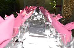 A beautiful setup on a wedding day