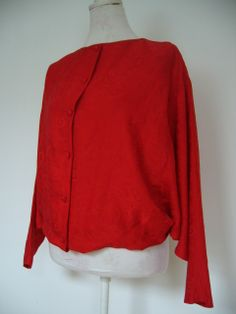 Vintage 1980s top with bottom panel removed for better fit