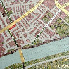 mosaic, map