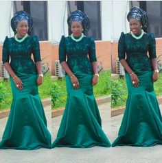 There are nearly 200 aso ebi styles in today's edition! For the newbies, an a wedding guest {bella} looking stunning in aso-ebi - BellaNaija Weddings. African Dresses For Women, African Attire, African Wear, African Fashion Dresses, African Women, African Outfits, African Style, African Clothes, African Lace