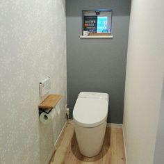 バス/トイレ/アクセントクロス/サンゲツ壁紙/TOTOトイレについてのインテリア実例。 「このアイテムについて...」 (2018-05-16 11:56:53に共有されました) Toilet Design, Shabby Chic, Bathroom, Interior, House, Home Decor, Rooms, Club, Wallpaper