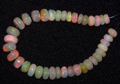 """27 Ct Flashy Premium Ethiopian Welo Opal Roundelle (38) Beads 5.5-7.2 MM AAA 5 """""""
