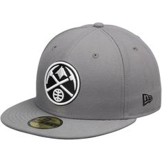 Denver Nuggets New Era 59FIFTY Fitted Hat – Gray Black New Era Fitted 22d8d41a1