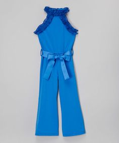 Love this Royal Blue Jumpsuit - Infant, Toddler & Girls on #zulily! #zulilyfinds