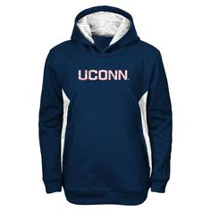 UConn Huskies Youth Shattered Poly Pullover Hoodie – Navy