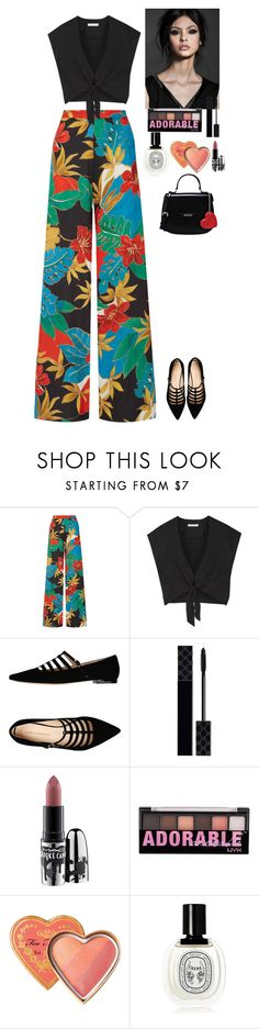 """Outfit"" by eliza-redkina ❤ liked on Polyvore featuring Alice + Olivia, Carlo Pazolini, Gucci, MAC Cosmetics, NYX, Diptyque, Love Moschino, StreetStyle, outfit and like"