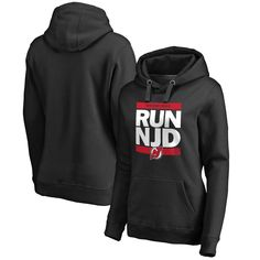 Women's New Jersey Devils Black RUN-CTY Pullover Hoodie
