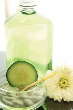 How to Make Soothing Cucumber Splash Recipe  This soothing cucumber splash recipe  has a cool scent that will lift your spirits and tone your skin because cucumber has natural astringent that is cleansing and refreshing. It can be used all over your body and works wonders to soothe a sunburn.