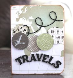 Safe Travel Wishes Project Life Travel, Project Life Cards, Project Life 6x8, Travel Album, Travel Cards, Scrapbooking, Scrapbook Paper, Paper Cards, Diy Cards