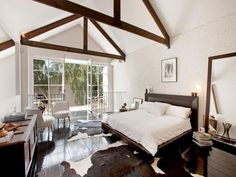 desire to inspire - desiretoinspire.net - Stalking warehouses with cute littlecourtyards Warehouse Conversion, Attic Conversion, Backyard Greenhouse, Cool Rooms, Awesome Bedrooms, Beautiful Bedrooms, Play Houses, Dream Bedroom, Home Interior Design