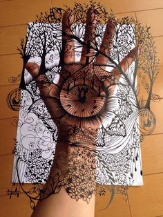 Intricate cut paper by Hiroko Abe