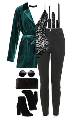 """Untitled #447"" by lindsjayne ❤ liked on Polyvore featuring NARS Cosmetics, Topshop, Yves Saint Laurent and LUISA BECCARIA"