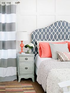 Rest easy with a headboard that's pretty in plush. Medium Density Fiberboard (MDF) provides the inexpensive framework, foam or batting creates the cushion, your favorite fabric supplies style, and spray adhesive and staples keep it all together./