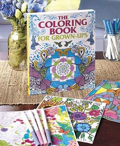 Put this at the top of your holiday gift ideas list! The Coloring Book for Grown-Ups provides a fun, creative outlet for your down-time. This engaging book offers an enticing assortment of gorgeous designs and scenes. #adultcoloringbook #greatgift