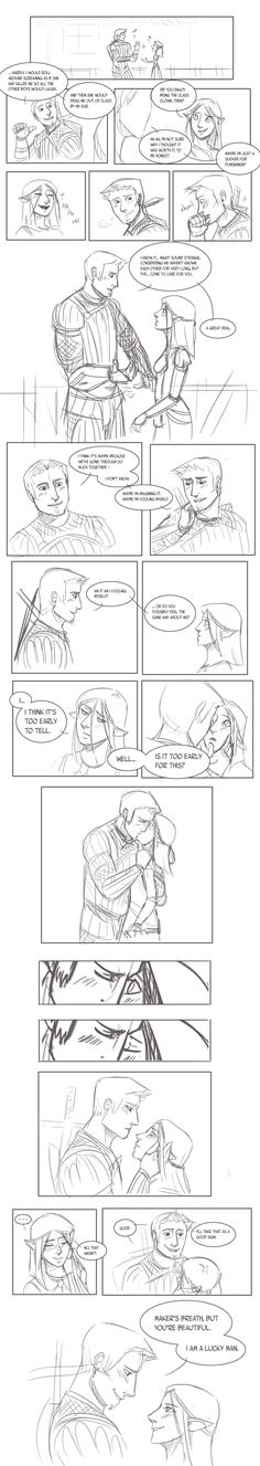 """just lean in to the cute, okay? """"But You're Beautiful. by Kay-double-O-Zii"""" Dragon Age Games, Dragon Age 2, Dragon Age Origins, Dragon Age Alistair, Dragon Age Romance, Dragon Age Series, Dragon Age Inquisition, You're Beautiful, Skyrim"""