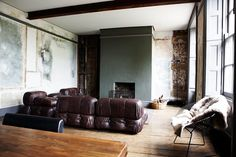 exposed brick, decay, architectural, mid-century modern + via The Brick House