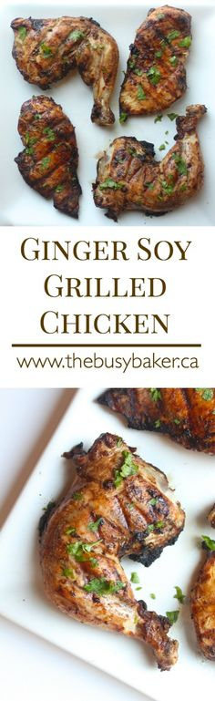 This Soy Grilled Chicken is the perfect easy main dish! Recipe from thebusybaker.ca!
