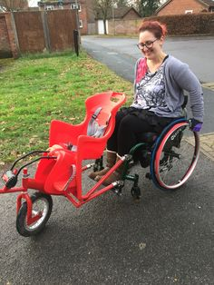 Stroller Options for Wheelchair-Using Parents Manual Wheelchair, Powered Wheelchair, Wheelchair Accessories, Handicap Accessories, Adaptive Equipment, Mobility Aids, Spinal Cord Injury, Tandem, Special Needs