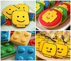 Biscoitos decorados para festa tema Lego