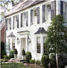 Whitewashed brick colonial