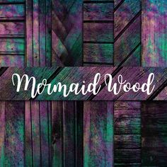 Mermaid wood digital paper wood textures purple background | Etsy