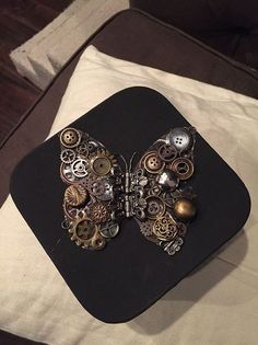 first attempt at a steampunk butterfly, pets animals