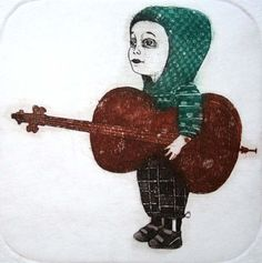 Hey, I found this really awesome Etsy listing at https://www.etsy.com/listing/117146319/boy-with-cello-limited-edition-original