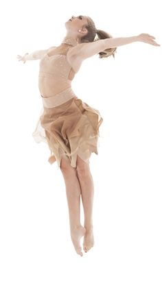 Two piece nude/skin colored crop top and highwaisted long skirt for dance. Great for a natural earthy lyrical or contemporary dance costume. Love the nude mesh!