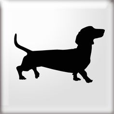 DACHSHUND DOG SILHOUETTE STENCIL Simple Dachshund dog shape stencil Use this stencil to paint a simple single motif or repeat at regular intervals to