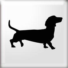 Gallery For > Weiner Dog Stencil