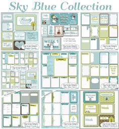 Sky Blue Collection & Free Project Life Journal Cards